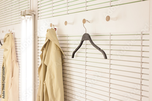 Fotografie, Obraz  A cloak on clothes hanger in dressing room