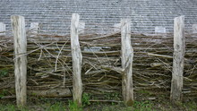 Wooden Fence.Natural Fence Mad...