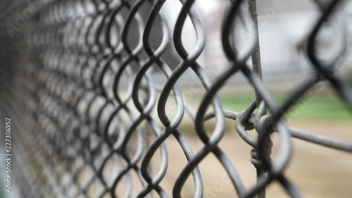 Canvas Print steel chain link fence