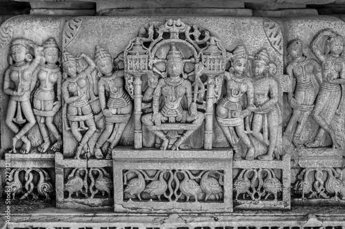 Fotografie, Tablou  Stone carving - Mahabalipuram, India