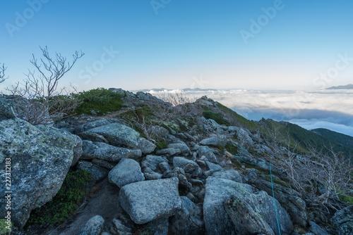Foto op Aluminium Blauw Mt.Kinpu in Japan