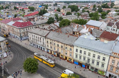 Foto op Plexiglas Oost Europa Aerial view of Lviv, Ukraine