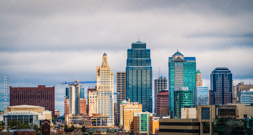 Fototapety, obrazy: Kansas City skyline Rich Look