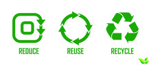 Set Of Reduce Reuse Recycle El...