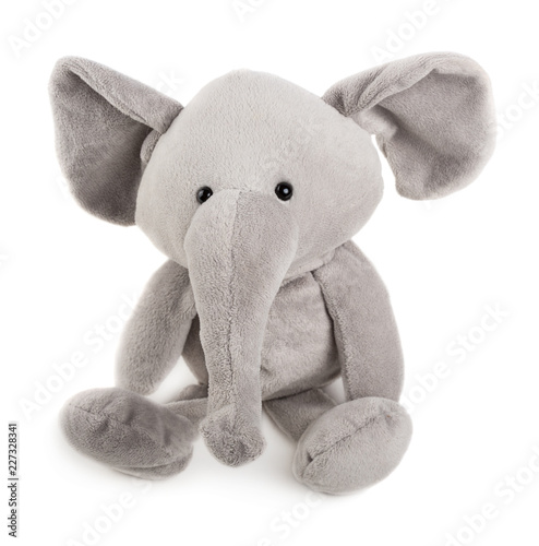 Grey toy elephant