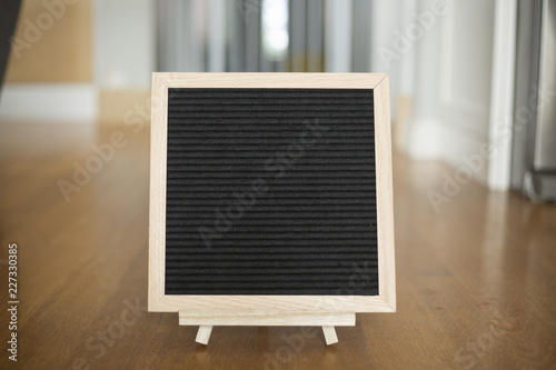 Blank, black felt board for quotes Canvas