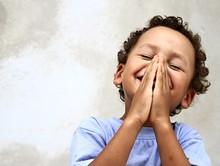 Little Boy Praying To God Stoc...