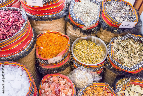 Spice souk at World Trade Center Mall, Emirate of Abu Dhabi, United Arab Emirates, UAE
