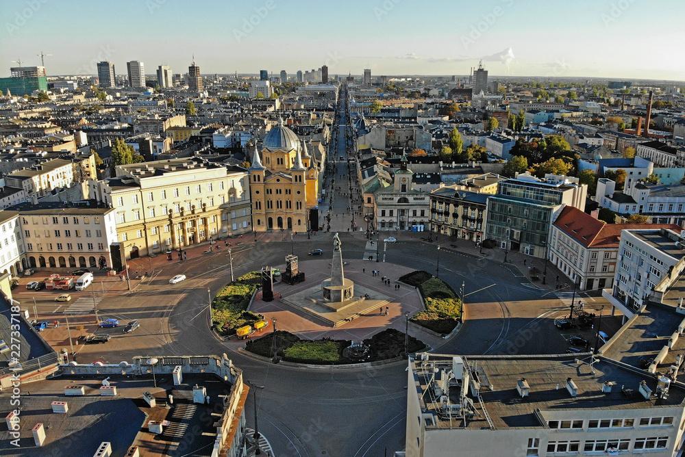Fototapety, obrazy: Łódź, Polska- widok na centrum