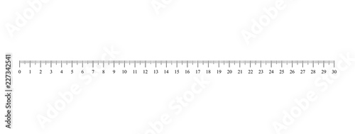 Fotografia, Obraz Ruler scale. Vector illustration