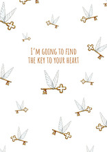 Rady Made Gift Postcard I'm Going To Find The Key To Your Heart - For Those You Love