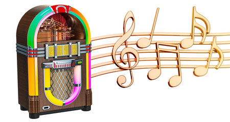 Musical concept. Jukebox wi...