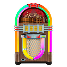 Vintage Jukebox Front View, 3D...