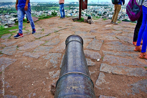 Photo CANNON IN GOLCONDA FORT