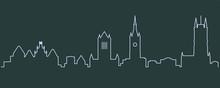 Ghent Single Line Skyline