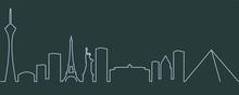Las Vegas Single Line Skyline