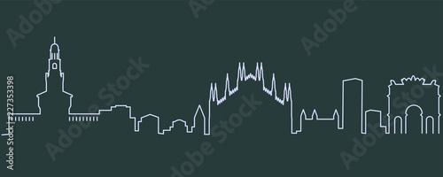 Valokuva  Milan Single Line Skyline