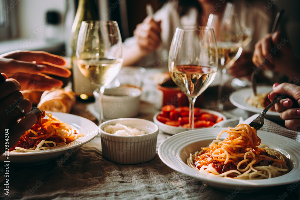 Fototapety, obrazy: WIne dinner