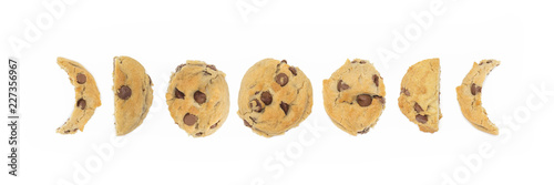 Chocolate Chip Cookie Moon Phase Representation