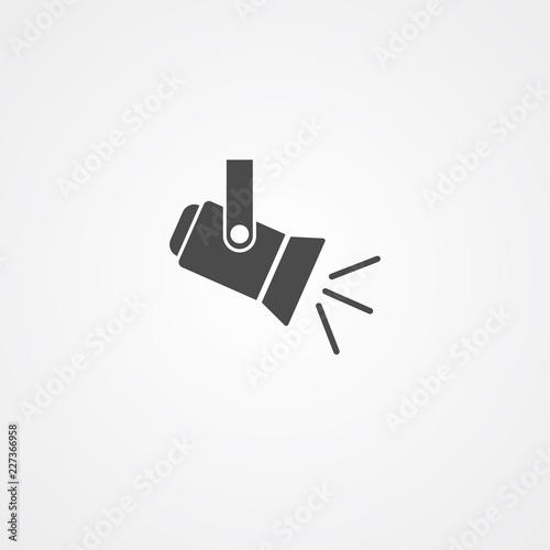 Recess Fitting Light, shadow Spotlight vector icon sign symbol