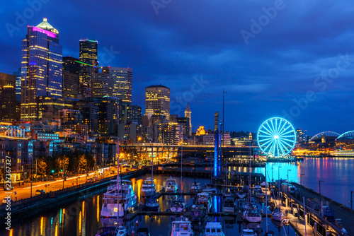 Seattle Waterfront Canvas