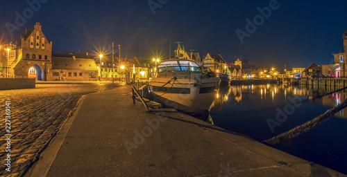 Plakat Port Wismar w nocy