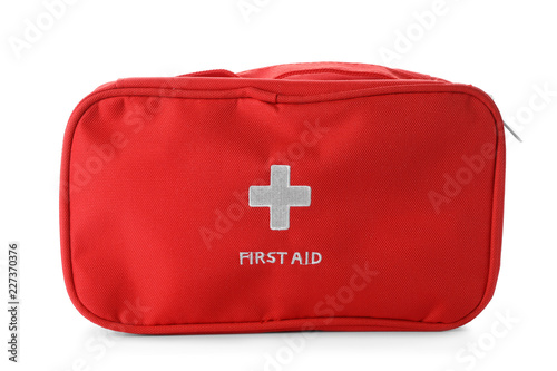 First aid kit on white background. Health care Canvas Print