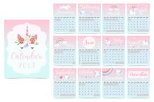 Cute Rainbow Monthly Calendar ...