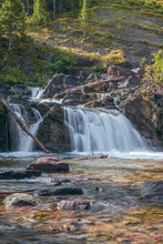 Redrock Falls.Glacier National...