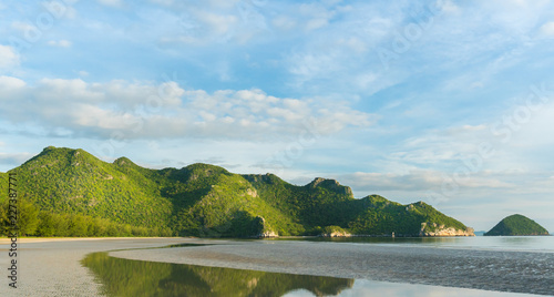 Keuken foto achterwand Heuvel Rock or Stone Mountain or Hill at Bang Pu Beach Prachuap Khiri Khan Thailand 2