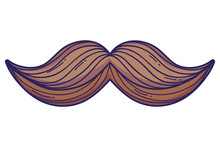 Mustache Cartoon Isolated