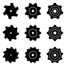 Sprocket For Drop Forged Chain. Silhouette Vector