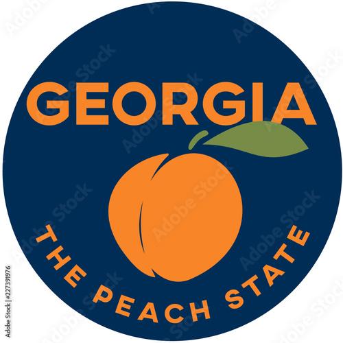 Photo  georgia: the peach state | digital badge