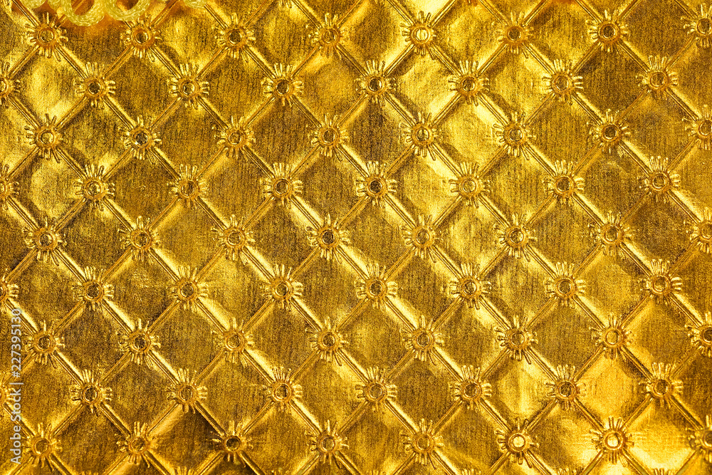 golden leather luxury and elegant abstract background texture