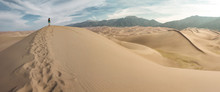Hiking Sand Dunes Panorama Col...