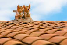 Pucara Ceramic Bulls On The Roof