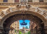 Fototapeta Na drzwi - Rome (Italy) - The esoteric quarter of Rome, called 'Quartiere Coppedè', designed by architect Gino Coppedè consisting of eighteen palaces and twenty-seven buildings rich in symbologies