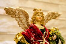 Close Up Of A Small Xmas Angel...