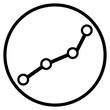Ketten Icon im Kreis