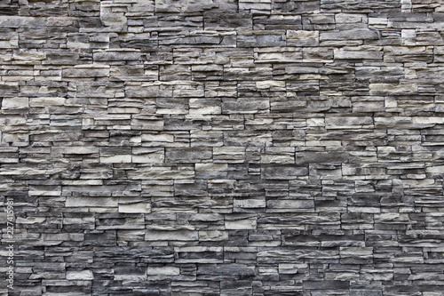 Texture of artificial gray stone wall Fototapet