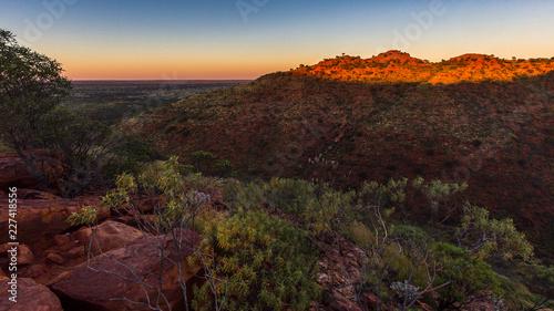 In de dag Chocoladebruin lever de soleil, Centre Rouge Australien
