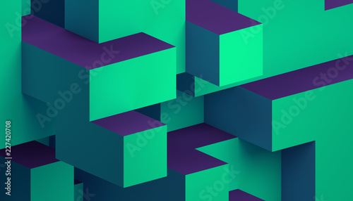 Obrazy zielone  abstract-3d-rendering-of-a-modern-geometric-background-minimalistic-design-for-poster-cover
