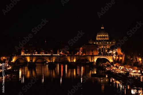 Fotobehang Volle maan Castel Sant'Angelo