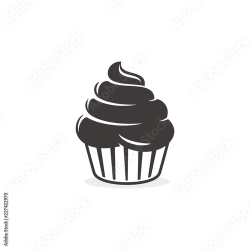 Cupcake logo template Wallpaper Mural