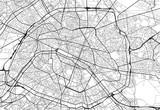 Wektor mapa miasta Paryża w czerni i bieli