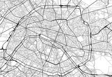 Vector City Map Of Paris In Bl...