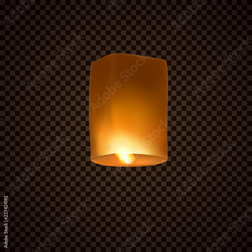 Lantern isolated on transparent background Wallpaper Mural