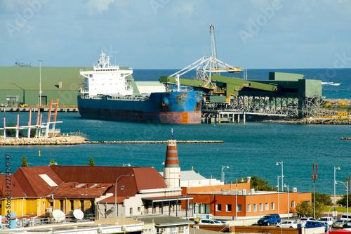 La pose en embrasure Port Port of Geraldton - Western Australia