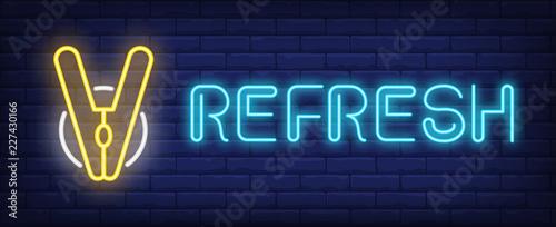 Obraz na plátne Refresh neon sign