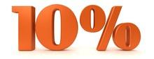 Percent Sign Percentage Interest Rate 3d Orange Rendering 10 % Sale Discount Savings Symbol Graphic Banner